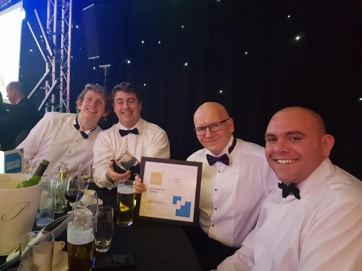 Ben, Tom, Geoff and Adam at the NECBA Evening 2018