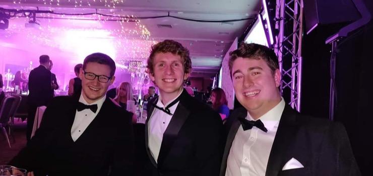 Jack, Ben and Tom at NECBA Evening 2018