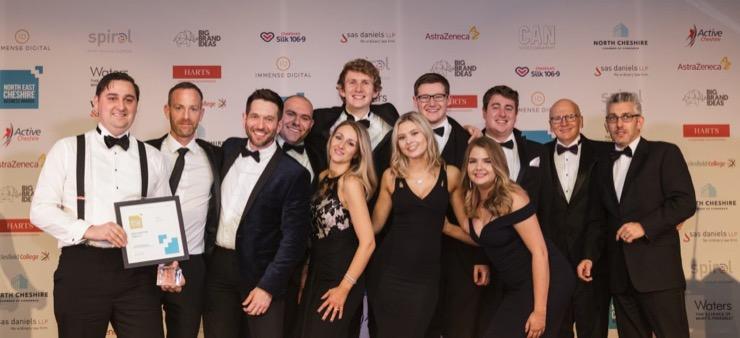 Group photo - Fabric IT win at NECBA 2018