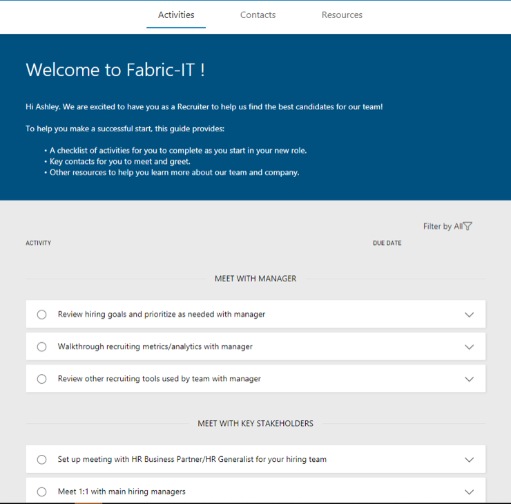 Improving Staff Engagement | Dynamics 365 for Talent - Fabric IT