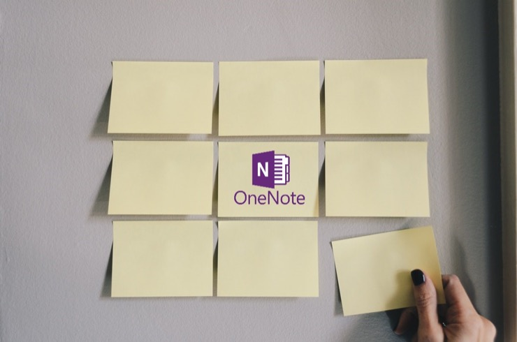 Sticky Notes with OneNote Logo