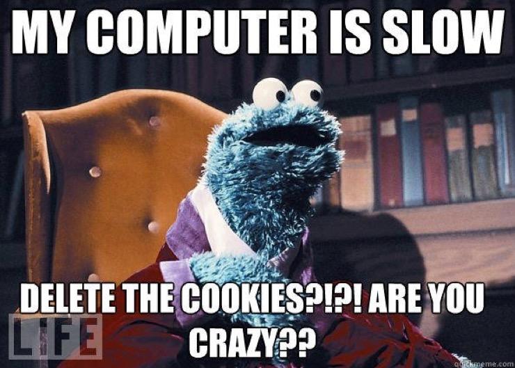 Slow Computer Cookie Monster Meme