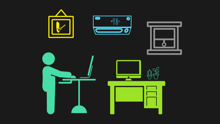 Office environment icons