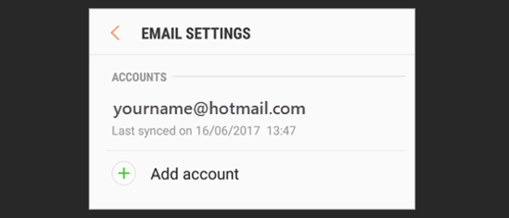 Step 1 add your email in settings