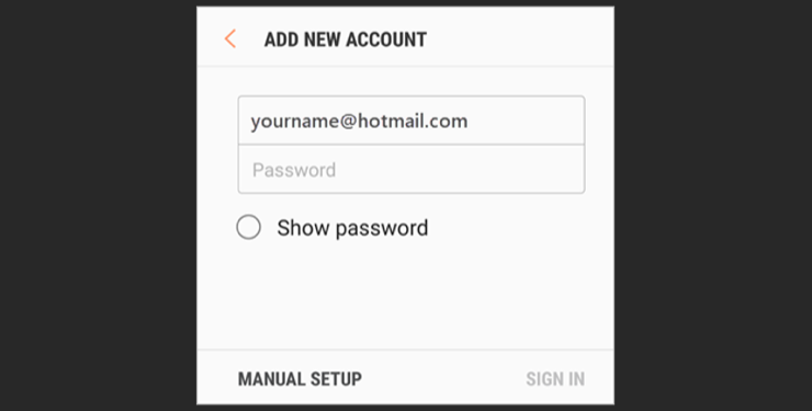 Step 2 add your password