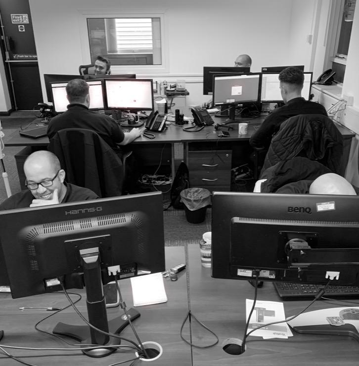 Service desk working photo