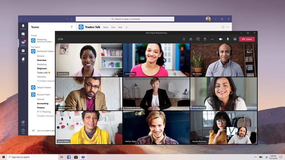 Multi-Window for Meetings & Calling